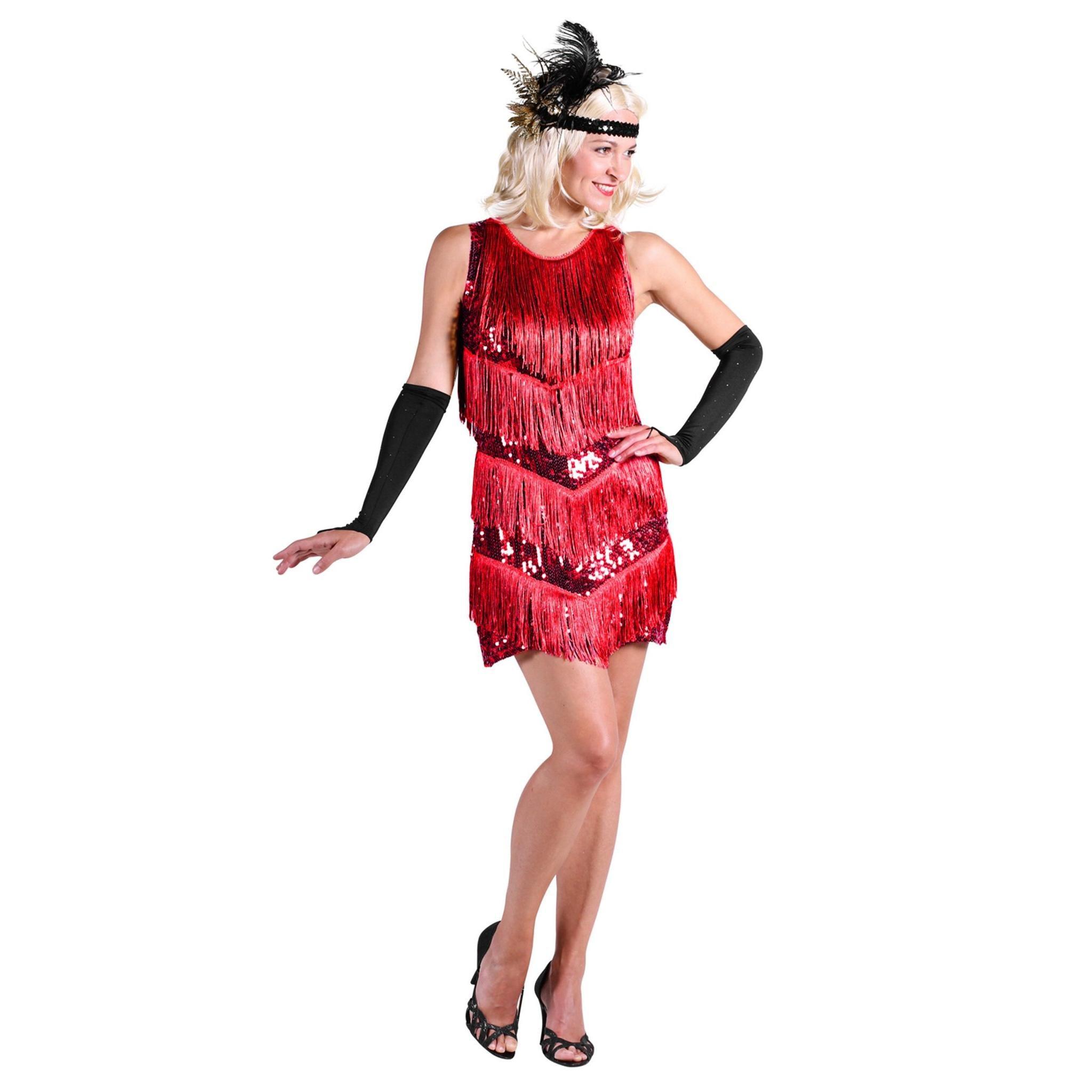 Thetru 20er Jahre Charleston Kleid rot