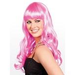 Boland Lange Haare rosa Perücke