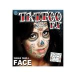 Tinsley Sugar Skull Gesicht-Klebetattoo