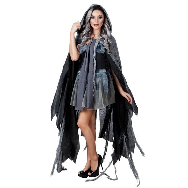 Boland Gothic Cape grau-schwarz