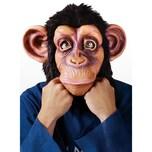 Fun World Schimpanse klassisch Maske aus Latex mit Fell