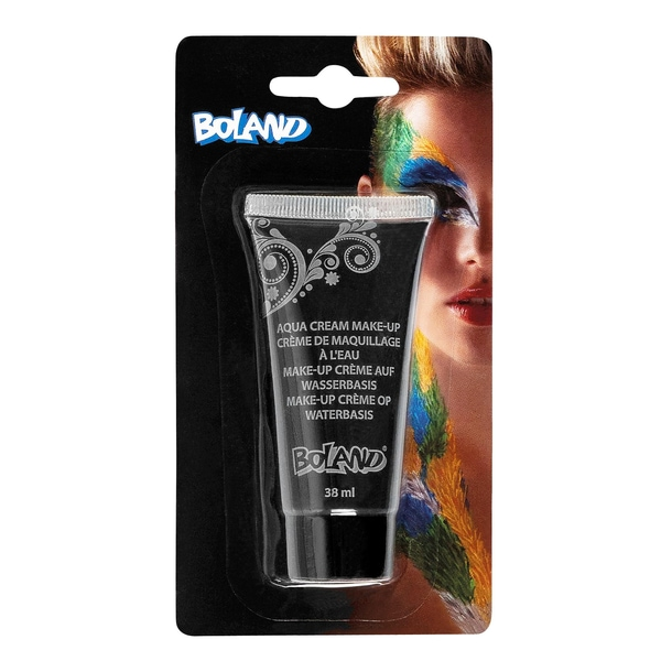 Fun World Aqua Cream Make-up schwarz Halloween Schminke