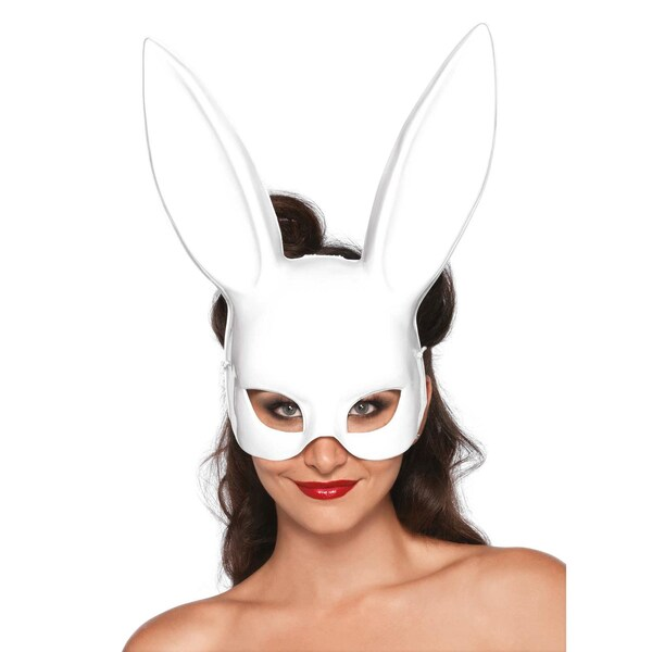 Leg Avenue Fetisch-Bunny Halbmaske weiß