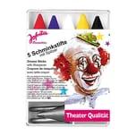 Rubies Fünf Karneval Schminkstifte mit Spitzer