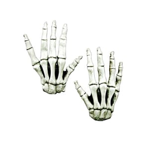 Ghoulish Productions Langfinger Skeletthände weiß aus Latex