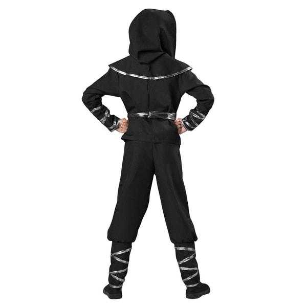 In Character Ninja Krieger Kinderkostüm Silberdrache