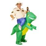 Widmann Dino-Reiter Aufblasbares Kostüm