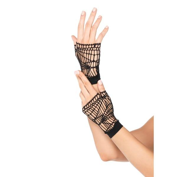 Leg Avenue Fingerlose Netzhandschuhe schwarz