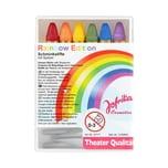Rubies Sechs Regenbogen Schminkstifte mit Spitzer