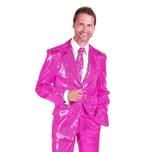 Thetru Schlagersänger Pailletten Anzug rosa Kostüm