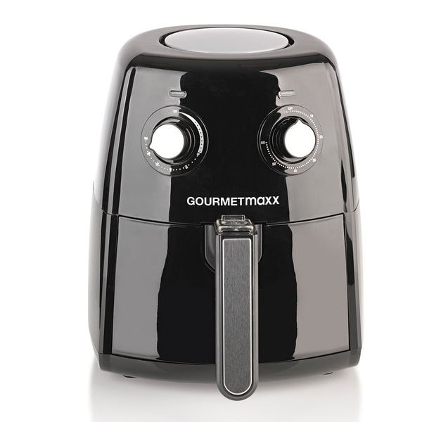 Gourmetmaxx Heißluft-Fritteuse XL 1500W schwarz