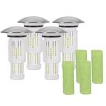Abfluss-Fee Verschlussstopfen 4er-Set in Weiß/Chrom mit Duftstein + Duftstein 4er-Set in Grün