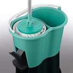 CLEANmaxx Power-Wischmopp - Zwei-Kammer-Filtersystem - türkis