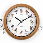 EASYmaxx Wanduhr mit Vogelstimmen - 12 Singvogelstimmen - 25 cm