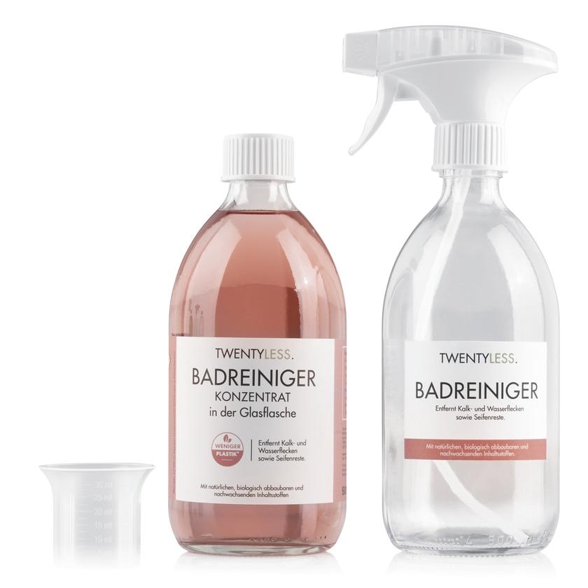 TWENTYLESS. Reinigungs-Set Bad inkl. Sprühflasche 500 ml Konzentrat