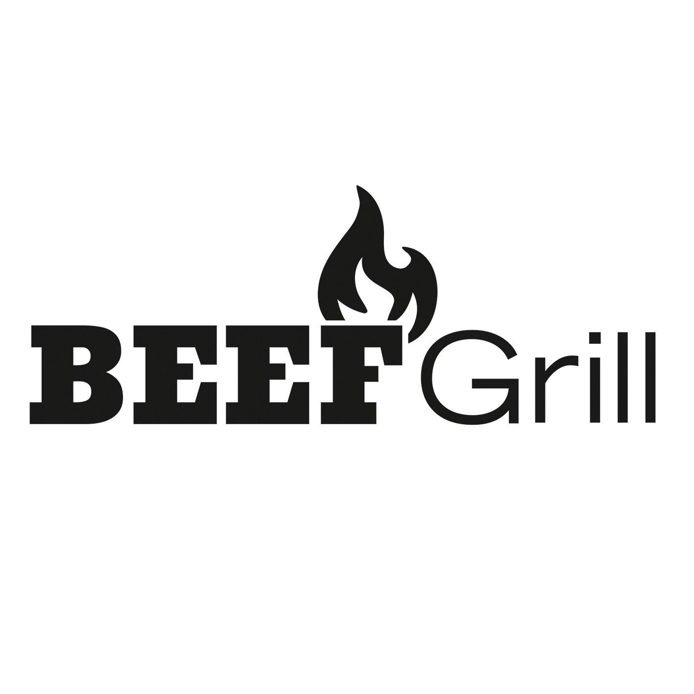 GOURMETmaxx Beef Grill Oberhitze Gasgrill aus Edelstahl für Temperaturen bis zu 800° C