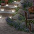 EASYmaxx Solar-Bodenleuchte - 8 LEDs pro Lampe - 4er-Set