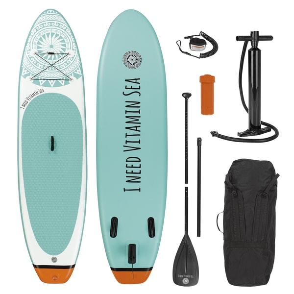 EASYmaxx Stand-Up Paddle-Board 300 cm weiß/blau