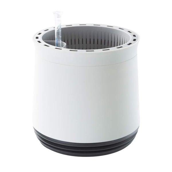 Easymaxx Airy Pot Luftreiniger Blumentopf für saubere Raumluft rund weiß/grau