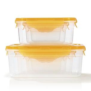 Hoberg Frischhaltedosen 14-tlg. mit 4-fach-Klick-Verschluss - mango
