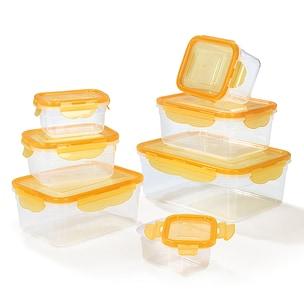 HOBERG Frischhaltedosen 14-tlg. mit 4-fach-Klick-Verschluss