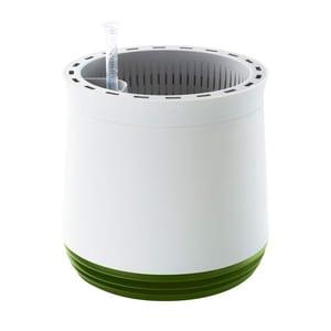 Airy Pot - Luftreiniger Blumentopf für saubere Raumluft - rund - 1600 ml - 27 cm hoch - weiß/grün