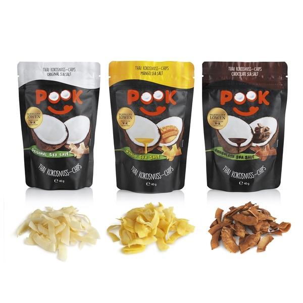 Pook Kokosnuss-Chips Chocolate Sea Salt 8er-Set 40g