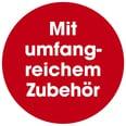 Easymaxx Nähkorb mit 76-teiligem Zubehör rot/weiß