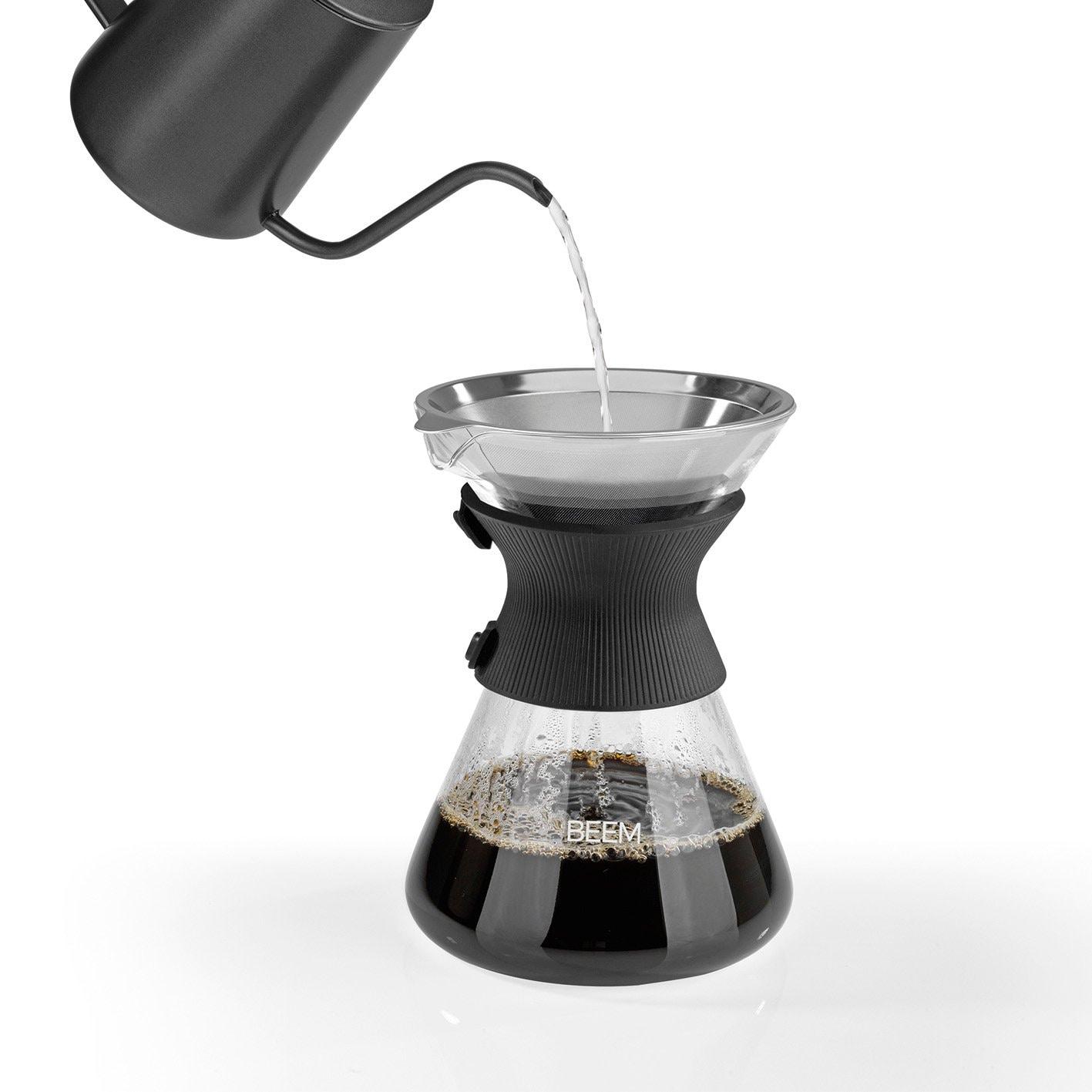 Beem Pour Over Kaffeekaraffe mit Permanentfilter - 6 Tassen, Classic Selection, 3-teilig