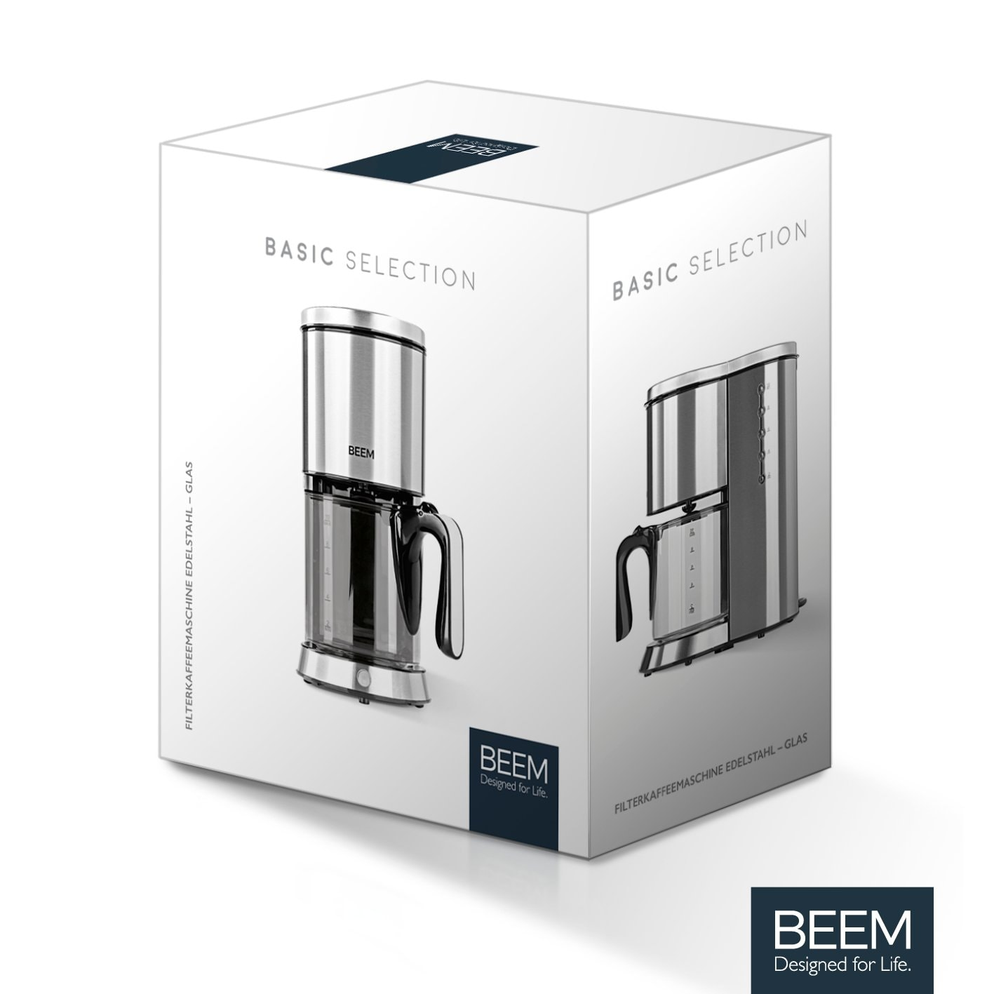Beem Filterkaffeemaschine Edelstahl Glas Basic Collection