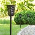 PRIMA GARDEN LED Solar-Fackelleuchte Fackeleffekt Kabellos