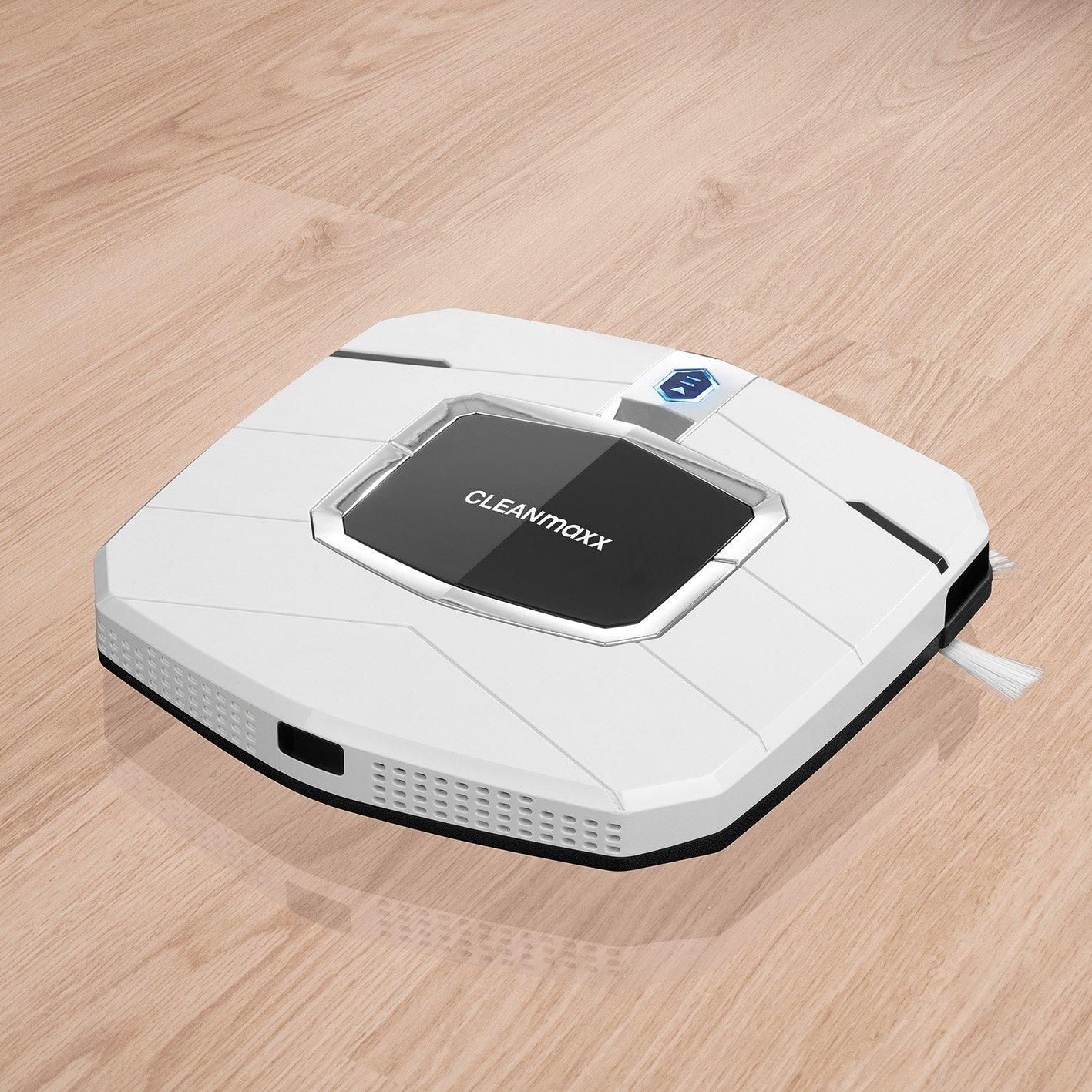 CLEANmaxx Saugroboter Slim Design in Weiß