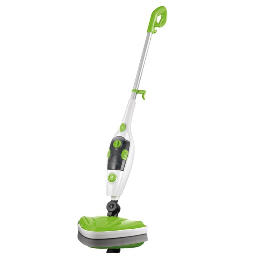 Cleanmaxx Dampfbesen 5in1 1500W limegreen/weiß/grau