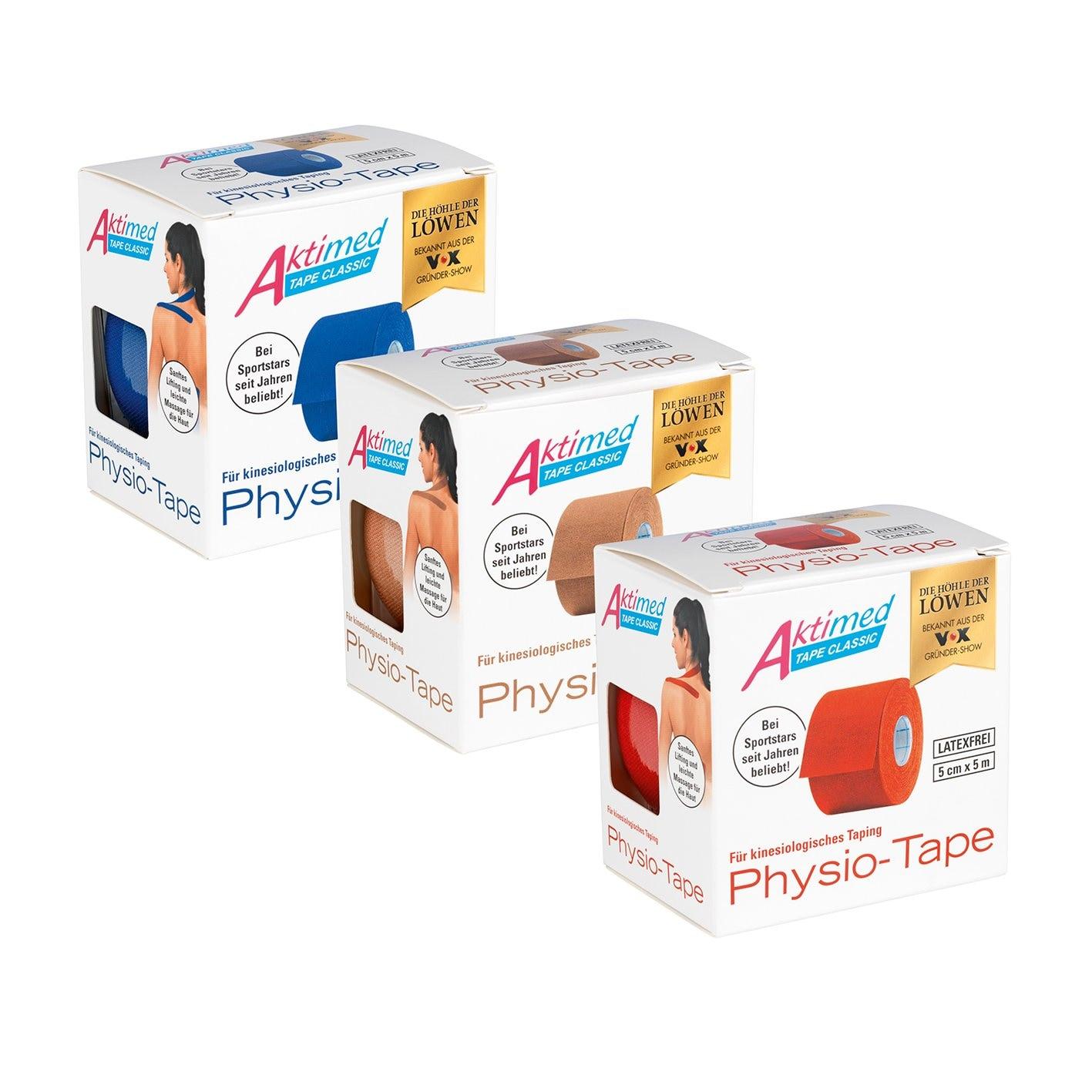 Aktimed Physio-Tape Set 3-tlg. 5m mehrfarbig