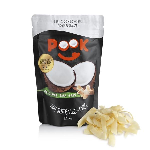 Pook Kokosnuss-Chips Original Sea Salt 8er-Set 40g