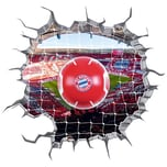 FC Bayern München LED-Lampe in Ballform mit 3D-Wandtattoo