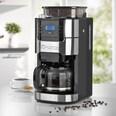 Barista Kaffeemaschine mit Mahlwerk 900W in Edelstahl/Schwarz