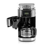 Barista Kaffeemaschine mit Mahlwerk 900W Edelstahl schwarz