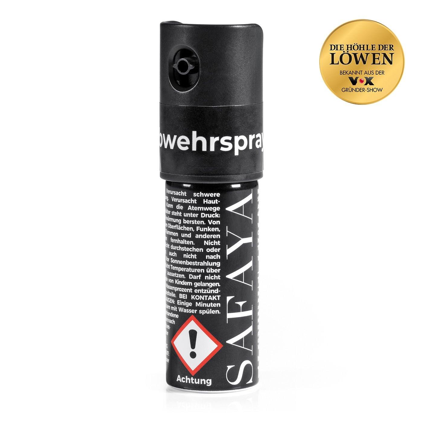 SAFAYA Tierabwehrspray Steine - schwarz - 15 ml