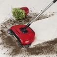 CLEANmaxx Bodenkehrer mit 3 Bürsten, rot