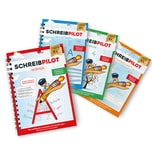 Schreibpilot Heft Buchstaben, Zahlen, Wörter & Schreibschrift mit Bleistift/Radiergummi - DIN-A4