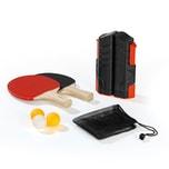 MAXXMEE Tischtennis-Set zum Mitnehmen 7-tlg. schwarz/rot