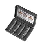 EASYmaxx Schraubenentferner-Set - 4 Bits in verschiedenen Größen - schwarz