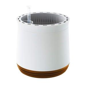 Airy Pot - Luftreiniger Blumentopf für saubere Raumluft - rund - 1600 ml - 27 cm hoch - weiß/goldbraun
