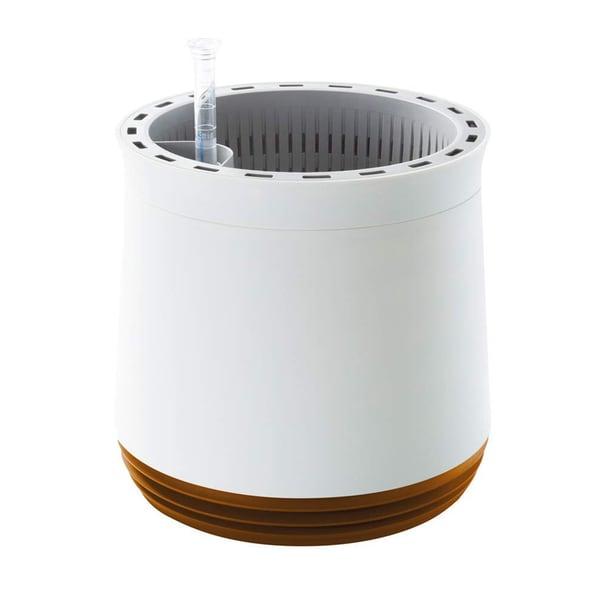 Easymaxx Airy Pot Luftreiniger Blumentopf für saubere Raumluft rund weiß/goldbraun