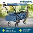 """Hoberg faltbarer Bollerwagen """"Premium Class"""" Blau"""