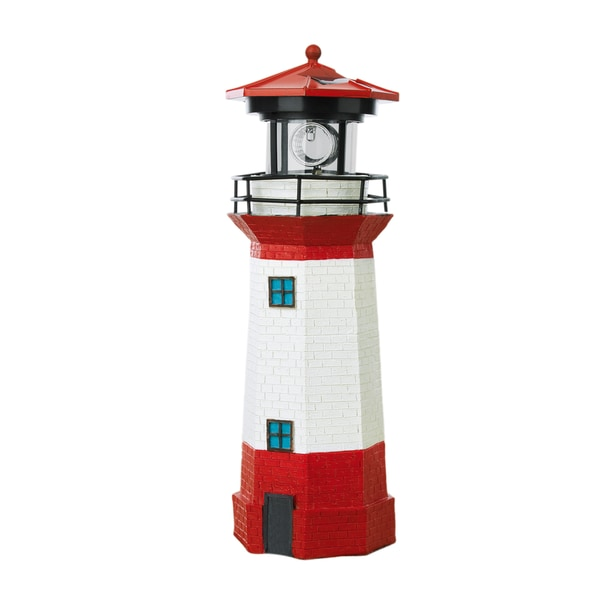 EASYmaxx Solar-Leuchte Leuchtturm 1,2V in Rot/Weiß