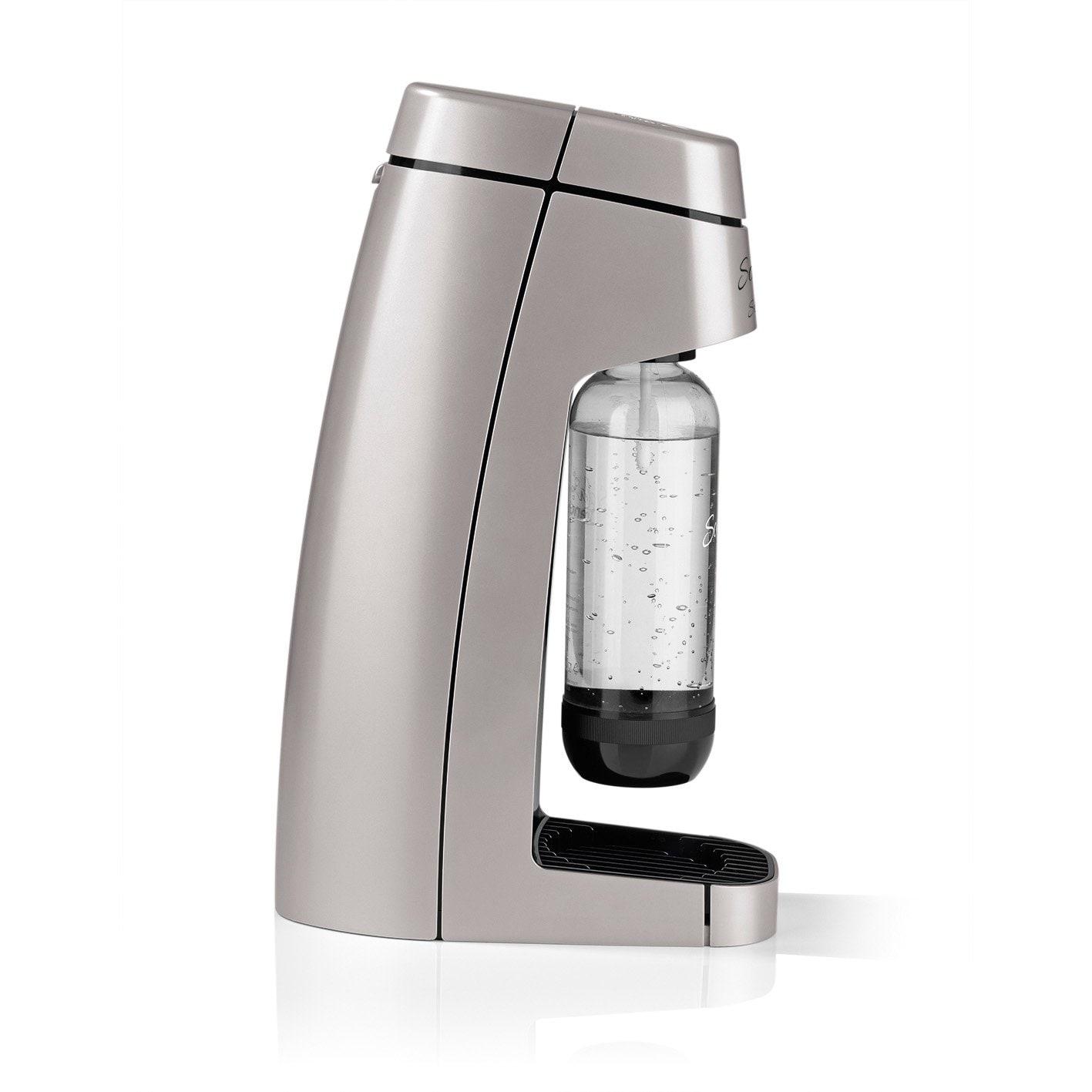 Soda Trend Style Wassersprudler inkl. PET-Flasche + CO2-Zylinder, silber