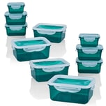 GOURMETmaxx Frischhaltedosen mit flexiblem Deckel, Klick-it 20-tlg. - Smaragd