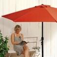 Easymaxx Sonnenschirm mit UV-Schutz halbrund terracota